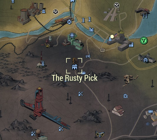 The Rusty Pick location